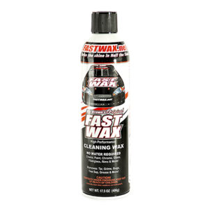 "Fast Wax ""RJ Brown's Original"" is a high performance no water required cleaning wax great for metal surfaces, glass, appliances, for year round application"