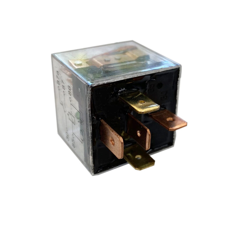 12v Transparent 5 Pin Relay with green LED Light indicator 100A Surge - 50A Continuous